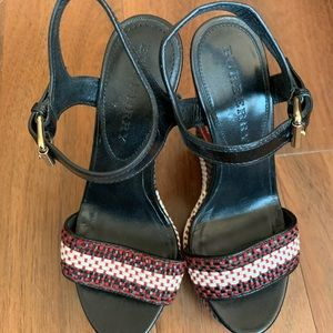 Burberry wedge sandals size 35